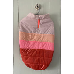 Boots and Barkley Size XL Pet Puffer Vest Pink Stripe NWOT