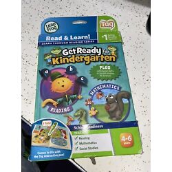 LeapFrog Tag Reading System Get Ready for Kindergarten Book EUC