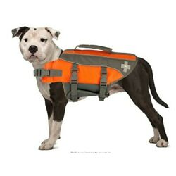 TOP PAW Dog Life Jacket, Reflective Adjustable Flotation Device for Water Safety