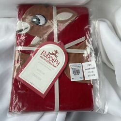 Pottery Barn Kids Rudolph red nosed reindeer kids apron new 2016