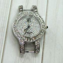 Womens Victoria Weick of Beverly Hills Watch Face Silver Tone and Crystal B4847E