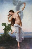 Quality Hand Painted Oil Painting Repro William Bouguereau L'Aurore 24x36in