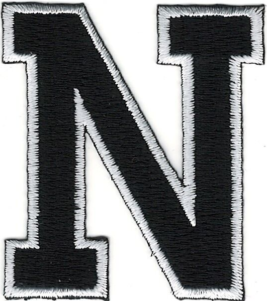 block letter n 2 quot monogram block letter n embroidery patch ebay 223