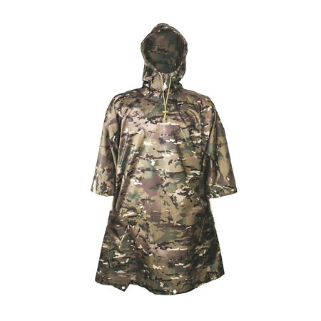img-RIP-STOP WATERPROOF WINDPROOF PONCHO/BASHA army camo military hooded HMTC jacket