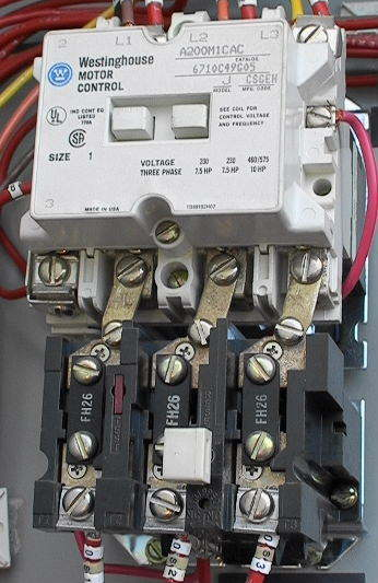 motor control contactor relay with heaters size 1