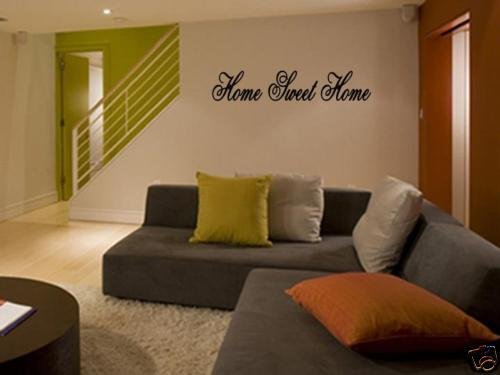 Home sweet home vinyl wall art decal decor quote saying ebay - Home sweet home decorative accessories ...