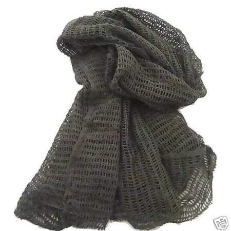 img-MILITARY SCRIM SCARF ARMY ISSUE OLIVE Cotton Soldier ops kit face neck cover