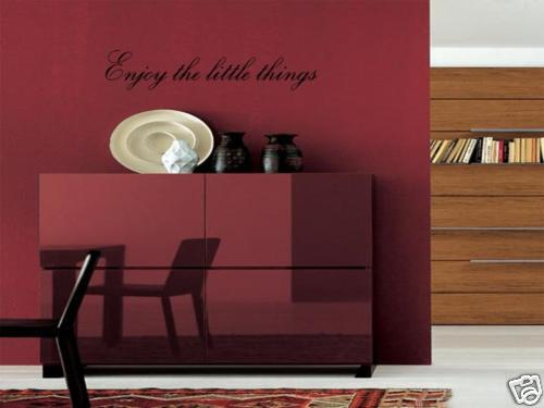 Enjoy the little things wall art vinyl decal home decor ebay - Things to put on a wall ...