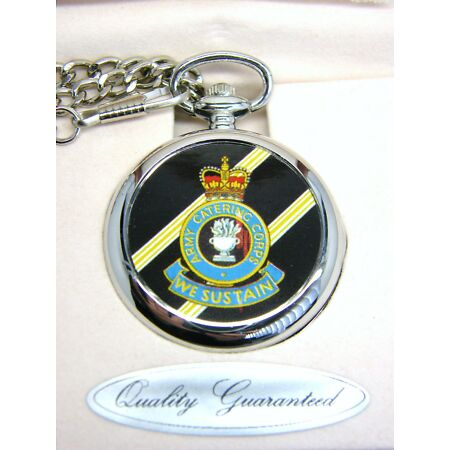 img-THE ARMY CATERING CORPS BADGE POCKET WATCH CHAIN FREE KEYRING MILITARY GIFT BOX