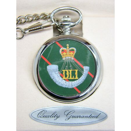 img-THE DURHAM LIGHT INFANTRY BADGE POCKET WATCH FREE KEYRING ARMY MILITARY GIFT BOX