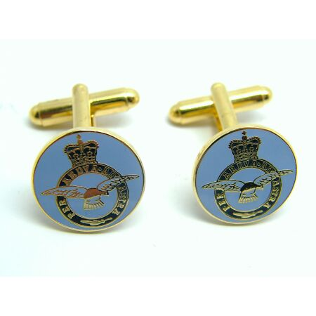 img-THE ROYAL AIR FORCE RAF CUFFLINKS MILITARY BADGE BOXED GIFT MOD APPROVED