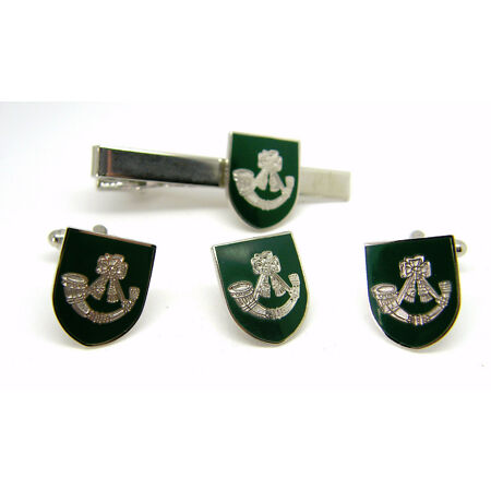 img-THE LIGHT INFANTRY ARMY CUFFLINKS TIE CLIP LAPEL BADGE BOXED SET MILITARY GIFT