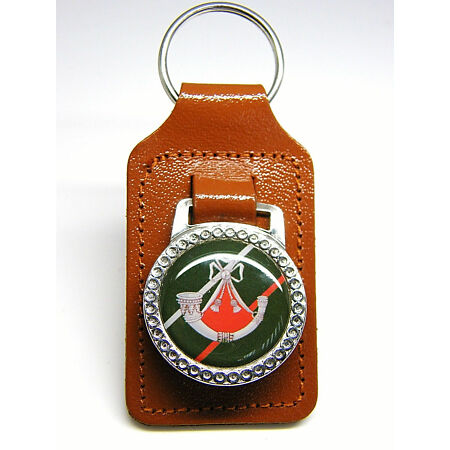 img-THE LIGHT INFANTRY MILITARY ARMY BADGE DETAIL LEATHER KEYRING KEY FOB GIFT