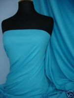 Turquoise soft fine rib 100% cotton jersey fabric