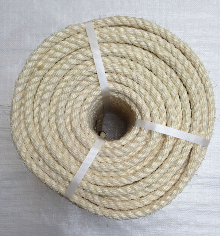 50 Mts X 10 Mm Natural Sisal Rope Mini Coil Ebay