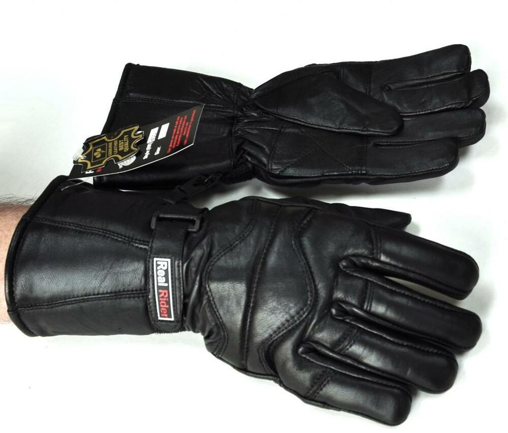 XL Mens Leather Thinsulate Biker Gloves Motorcycle Winter