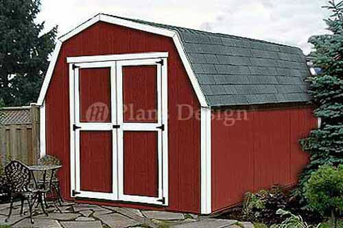 Garage With Storage Free Materials List: 12' X 8' Barn / Gambrel Style Storage Shed Plans, Material
