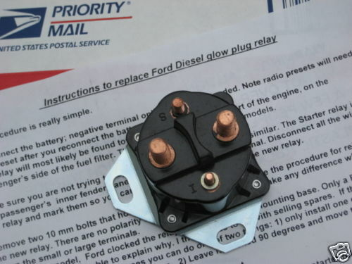 Ford Diesel Glow Plug Relay-- 6 9 And