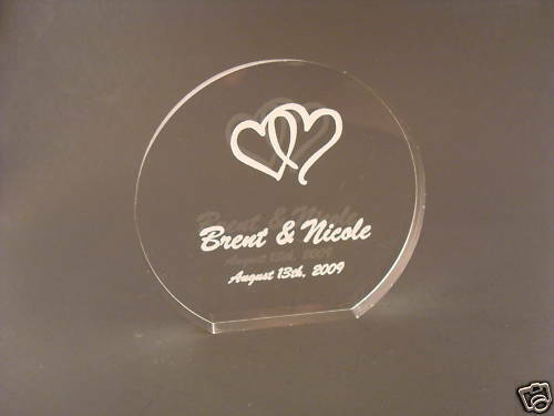engraved wedding cake toppers personalized acrylic wedding cake topper engraved ebay 14035