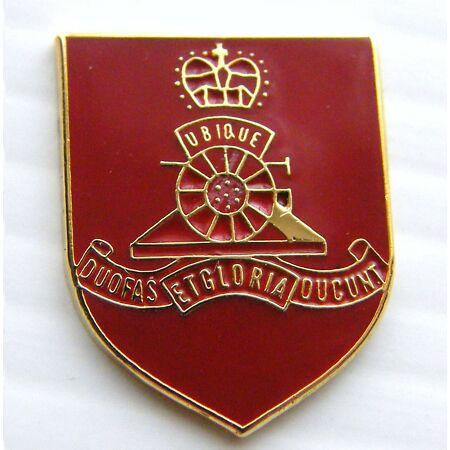img-THE ROYAL ARTILLERY MILITARY LAPEL ARMY BADGE FREE GIFT POUCH MOD APPROVED