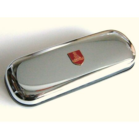 img-THE ROYAL ARTILLERY ARMY MILITARY BADGE CREST CHROME GLASSES PEN OR DARTS CASE