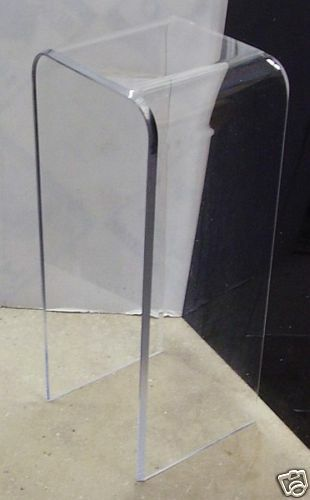 1 2 Quot Clear Acrylic Pedestal End Table 30 Quot High Lucite Ebay