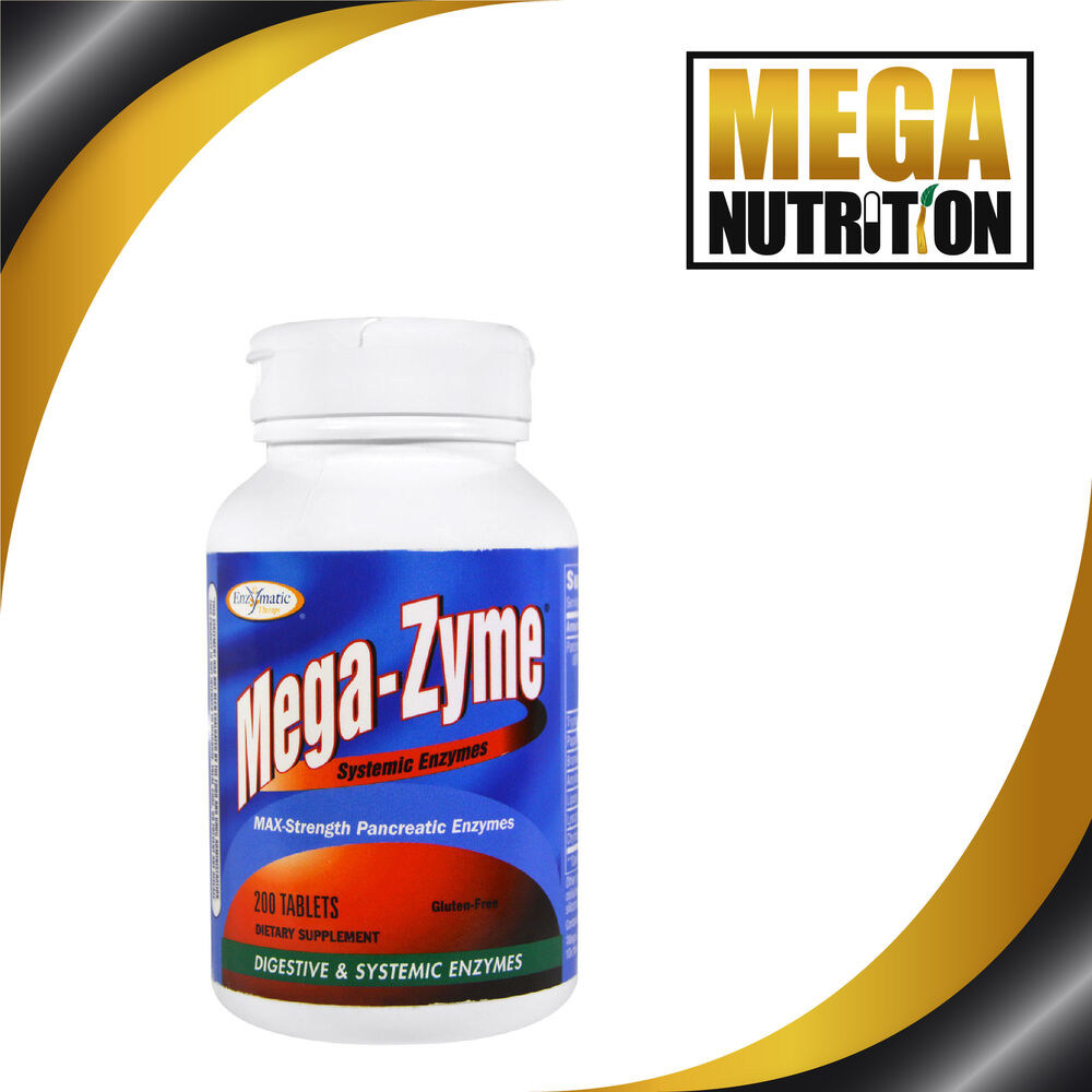 Mega Zyme 10x Strength Pancreatic Super Enzymes X200tabs