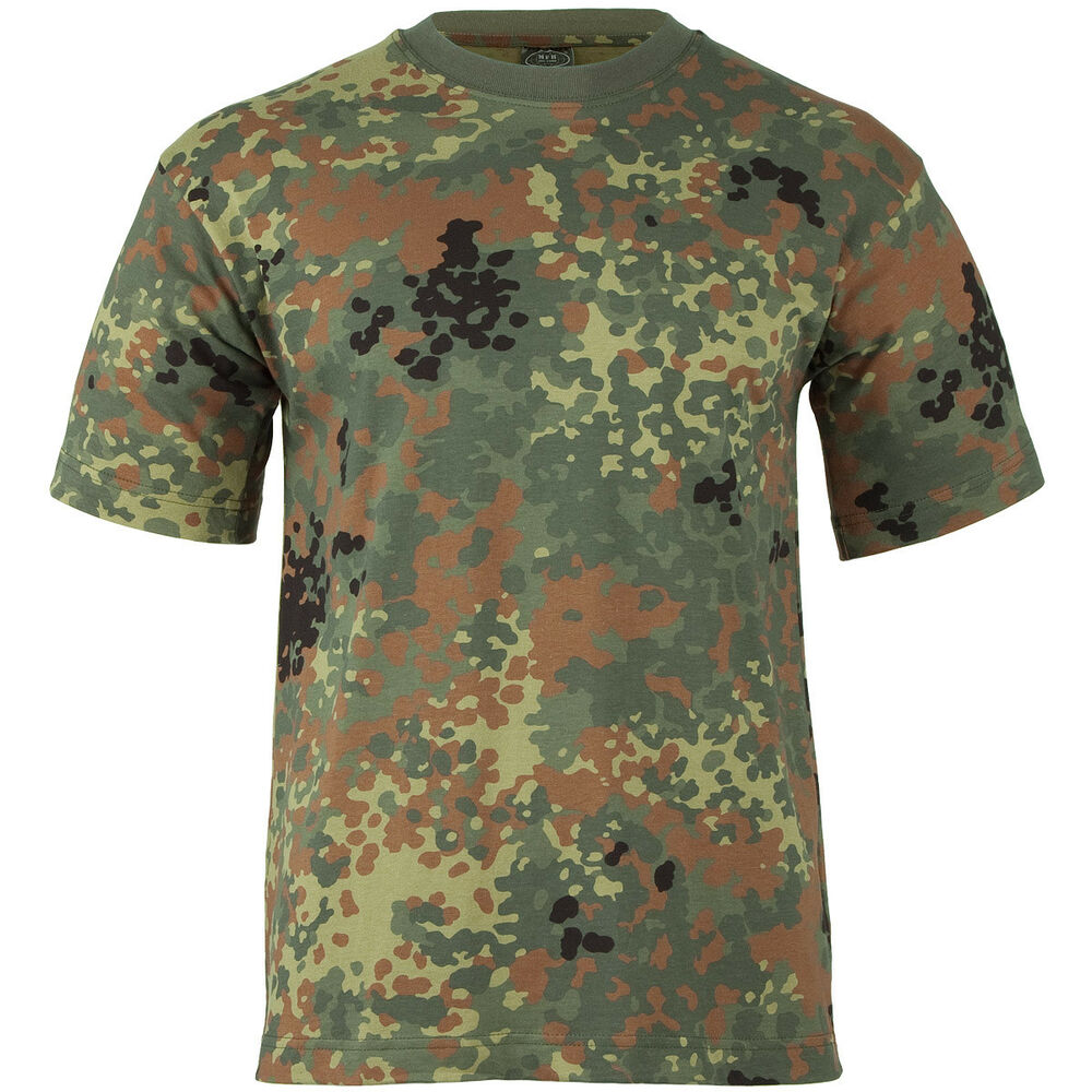 shirt military tee bw flecktarn german camouflage s 3xl ebay. Black Bedroom Furniture Sets. Home Design Ideas