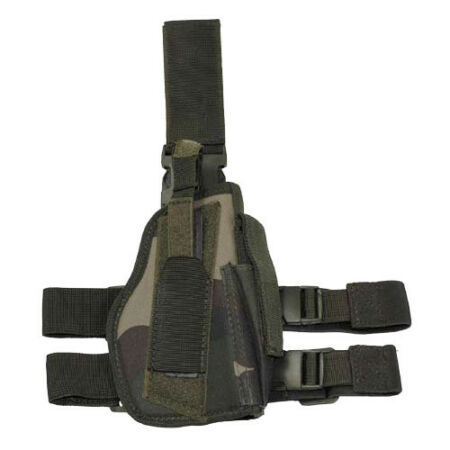 img-TACTICAL LEG HOLSTER MAG POUCH RIGHT HAND MILITARY WEBBING FRENCH ARMY CCE CAMO