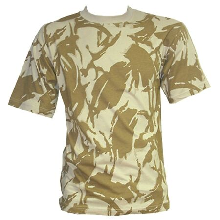 img-ARMY DESERT CAMO T-SHIRT Mens Large Military camouflage tee Gents cotton top