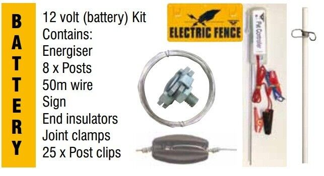 Battery Operated Electric Fence Dog Containment Kit