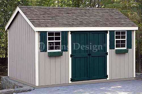 8 x 12 Storage Utility Garden Shed Plans / Building ...