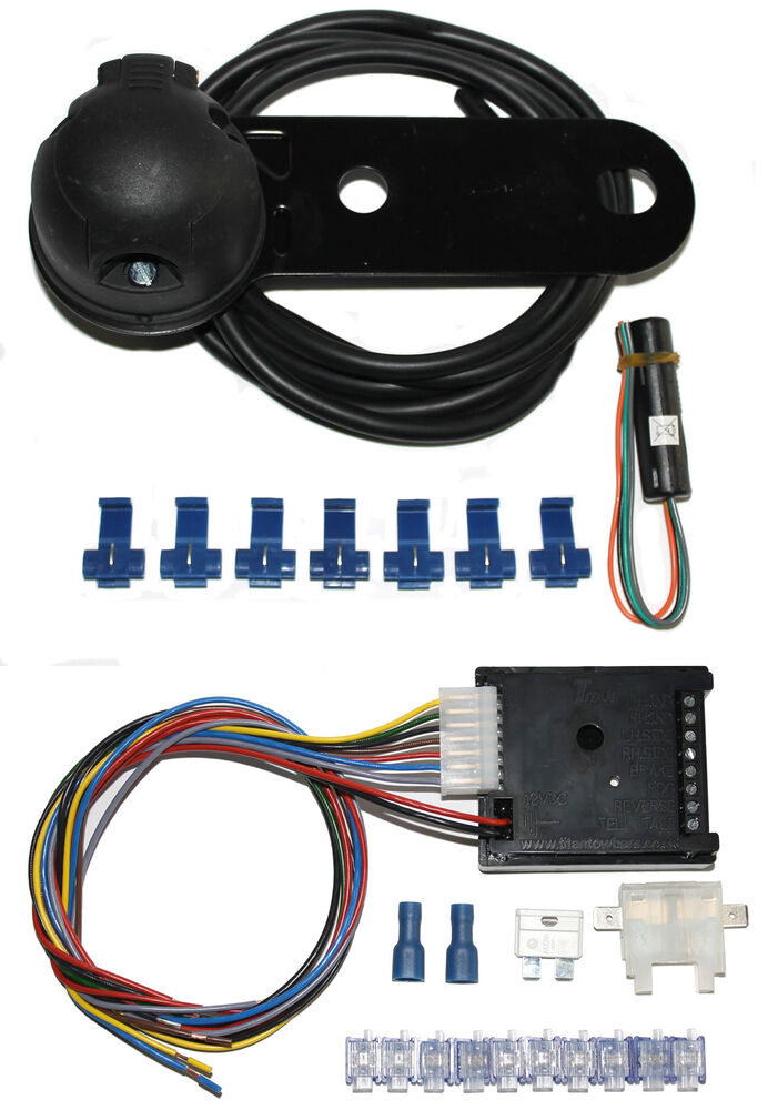 Universal 7 Pin 12n Single Towing Electrics    Towbar Wiring   7 Way Bypass Relay