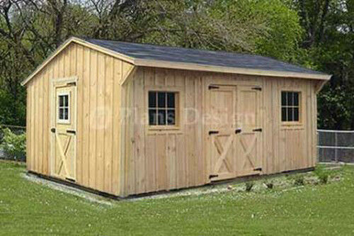 Garage With Storage Free Materials List: 12' X 16' Utility Storage Saltbox Shed Plans, Material
