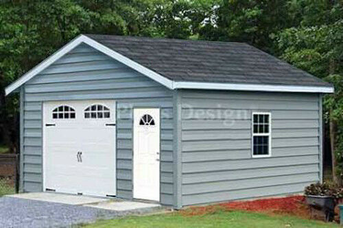 car garage building plans 18 x 20 structure blueprint