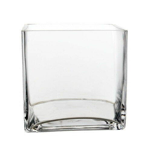 Clear Glass Cube Square Vase Wedding Centerpiece Home