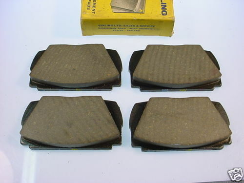 volvo p1800 nos girling front brake pads 64325536 ebay. Black Bedroom Furniture Sets. Home Design Ideas