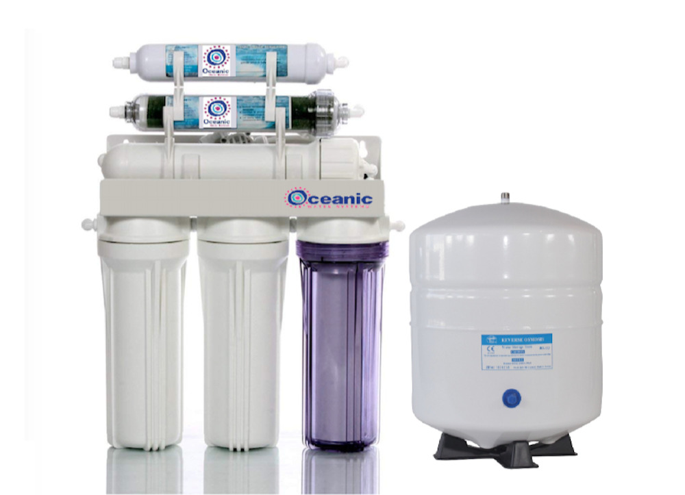dual outlet reverse osmosis di ro water filter system 6 gallon tank 150 gpd ebay. Black Bedroom Furniture Sets. Home Design Ideas