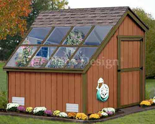 8 x 8 greenhouse nursery garden structures shed plans