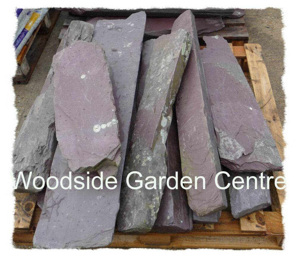 Decorative extra large standing stones rustic plum blue for Large outdoor decorative rocks