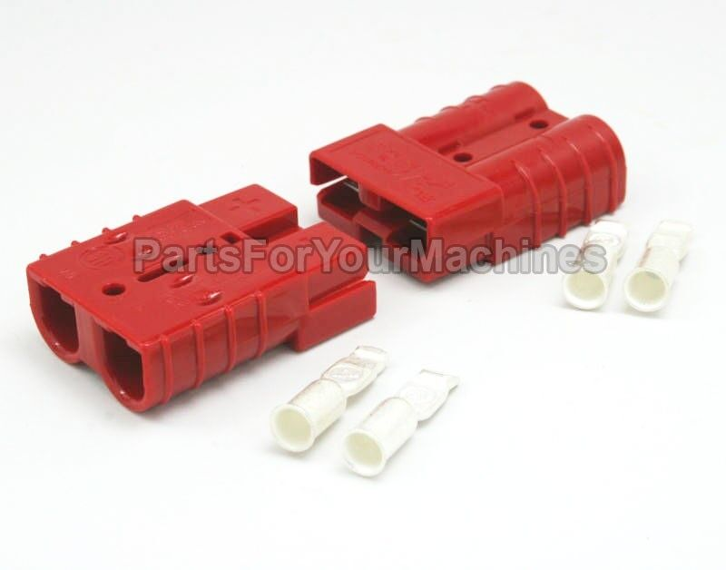 2 Connector Plugs W 6 Gauge Contacts 50a Anderson