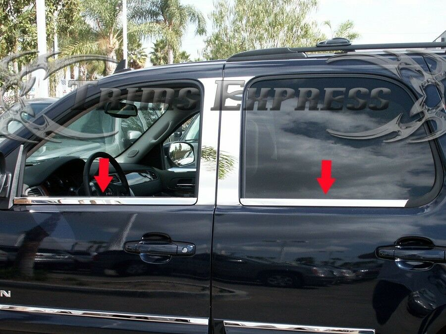 2000 2006 chevy tahoe 4pc chrome window sill stainless for 2002 tahoe window motor