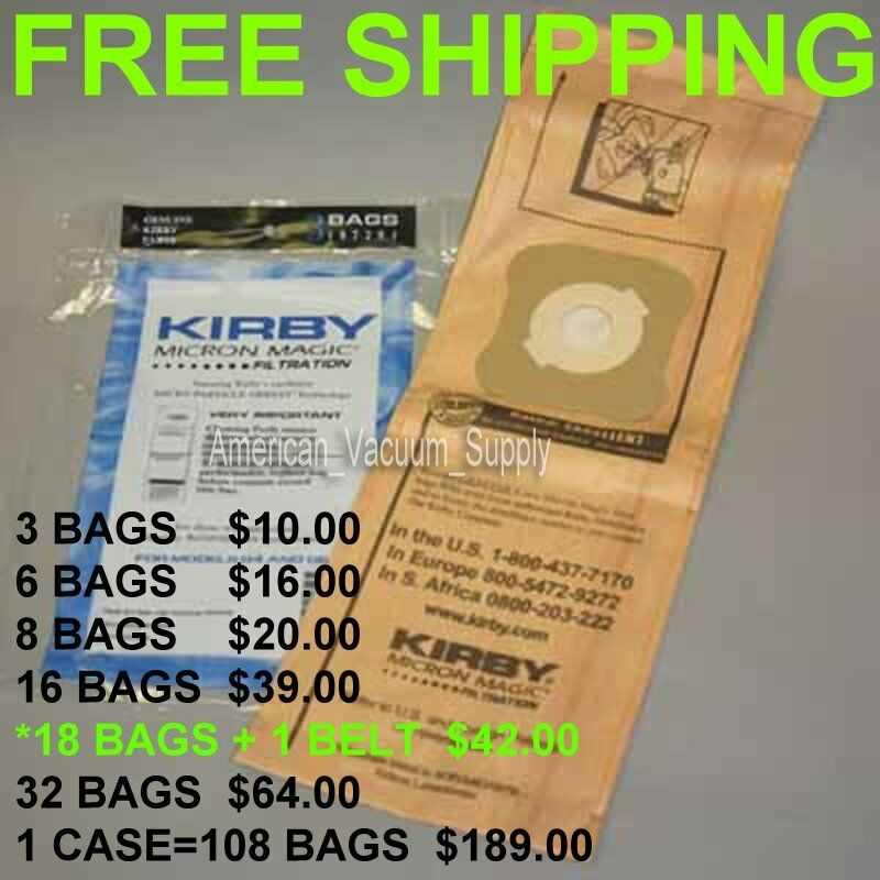 Kirby G 3 4 5 6 7 10 Vacuum Cleaner Bags Micron Magic Ebay