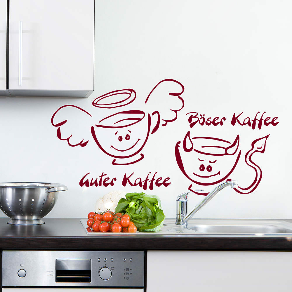 wandtattoo guter kaffee b ser kaffee k che ktichen kochen gr3 3 ebay. Black Bedroom Furniture Sets. Home Design Ideas