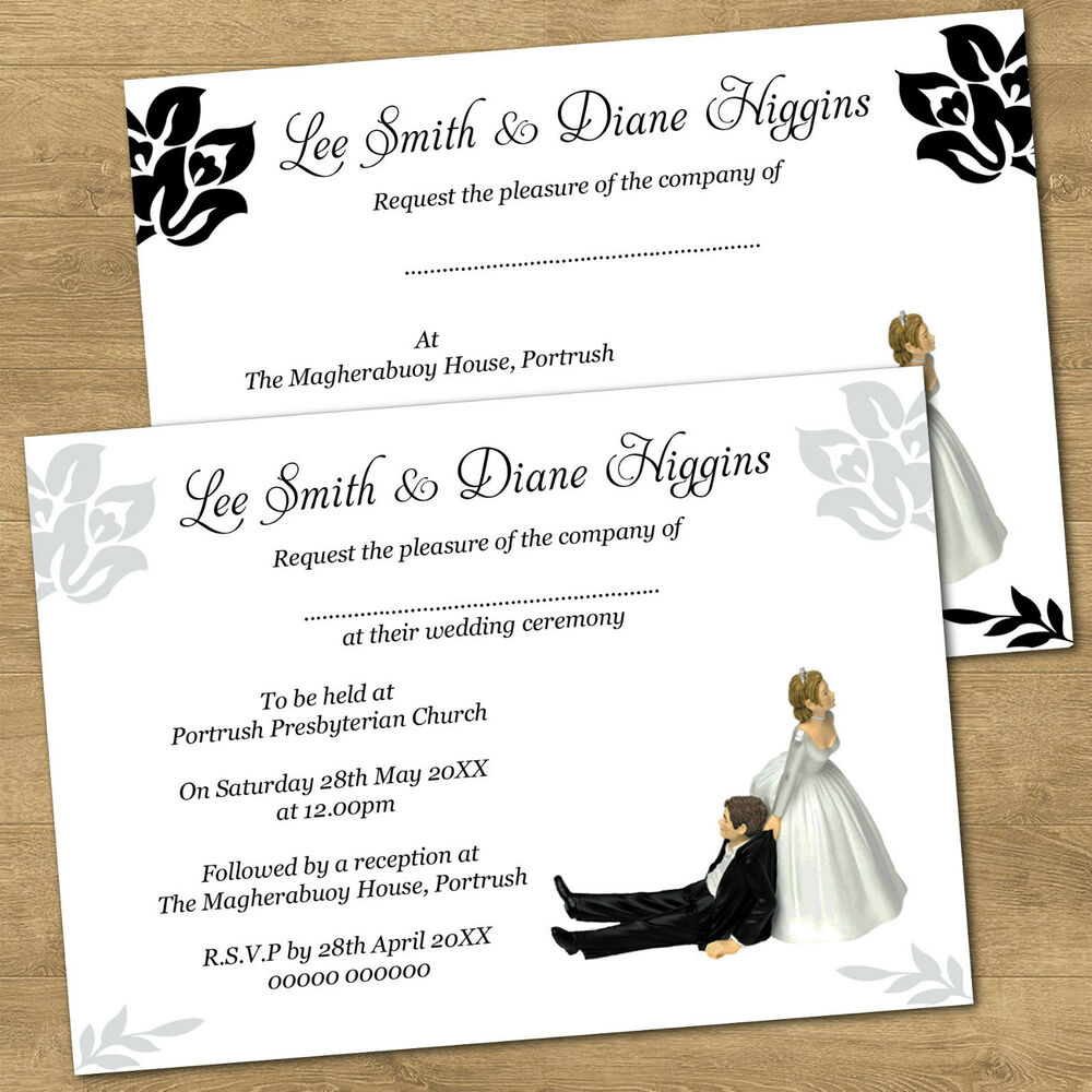 Personalised Day Or Evening Funny Wedding Invitations