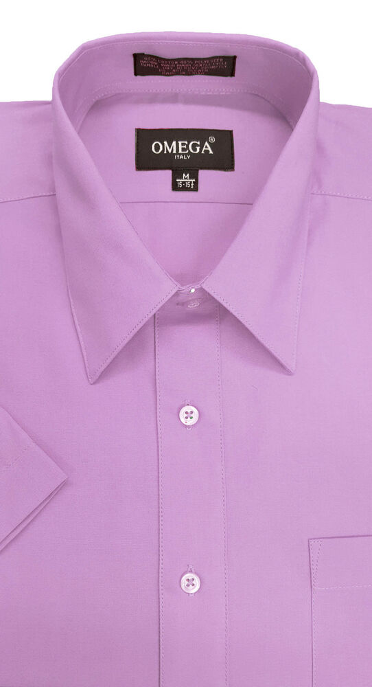 mens lilac short sleeve dress shirt all sizes ebay