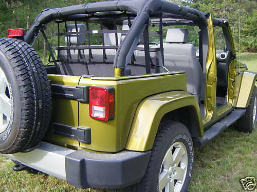 4 door jeep wrangler rear seat barrier net ebay for 07 4 door jeep wrangler for sale