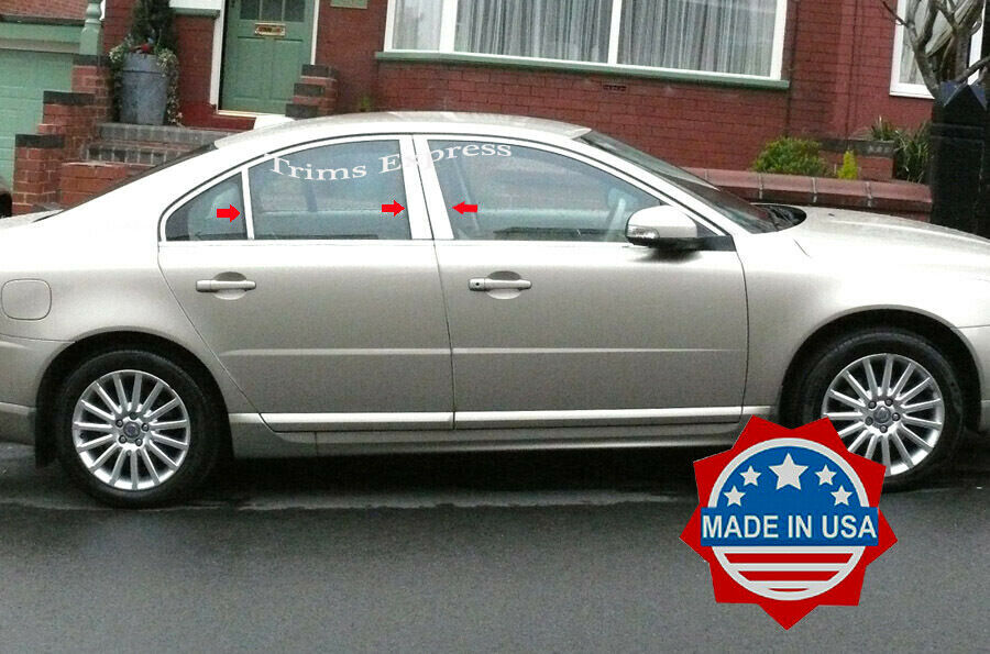 Details About 2007 2017 Volvo S 80 S80 Chrome 6pc Pillar Post Stainless Steel Trim