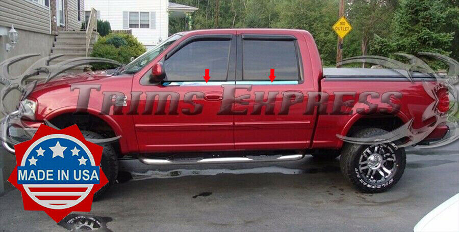 1997 2003 ford f 150 crew cab 4pc window sill trim stainless steel ebay. Black Bedroom Furniture Sets. Home Design Ideas