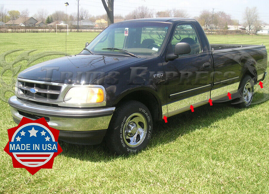 1997 2003 ford f 150 regular cab long bed rocker panel trim w flare ebay. Black Bedroom Furniture Sets. Home Design Ideas